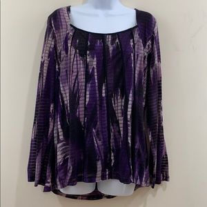 Jaclyn Smith Long Sleeve Lined Shirt  Size 1X